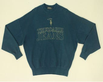 Trussardi Sweatshirt Vintage Trussardi Sweatshirt Trussardi Jeans Sweatshirt Trussardi Jumper