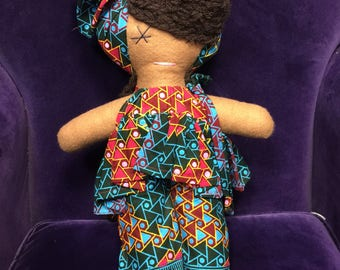 African Doll -Doll Large- Christmas Present - African Toys - Multicultural Doll - Handmade Toy - Cultural Toys - Black Doll