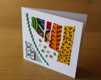 African Cards - African Christmas Cards - African Greeting Card - African Print Birthday Card - Christmas Card Pack - Wedding Invitation