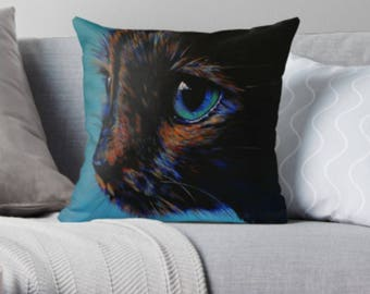 Tortie Cat scatter sofa cushion | pink cat lover scatter sofa cushion | cat lover throw pillow | cat lover cushion