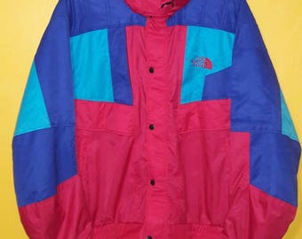 Vintage 90's The North Face hooded Jacket multicolor large size