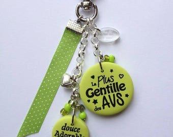 "AVS ""nicest AVS"" bag charm"
