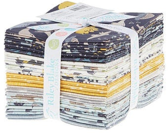 Fossil Rim Fat Quarter Bundle by Deena Rutter for Riley Blake (21 pcs) - juvenile nursey rhymes cotton quilting fabric