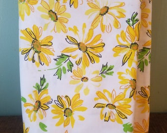 Dan river New old stock yellow floral double flat sheet