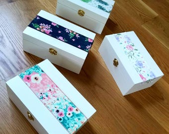 Floral Ribbon Gift Box | Bridesmaid Gift Box | Wedding Gift Box | Birthday Gift Box | Bridesmaid Proposal Box | Bridal Party Gift Box
