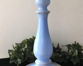 Antique Blue Milkglass Table Lamp