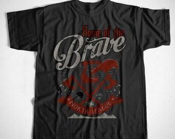 T-Shirt Home Of The Brave S M L XL 2XL 3XL 4XL Viking Wikinger Thor Vikings Odin