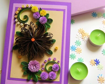 Quilled greeting cards,Paper quilling birthday cards,Quilling cards designs,Handmade quilling cards,Happy birthday quilling card,Wishes card