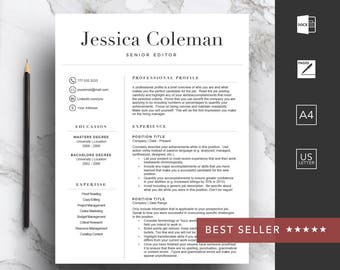 Cover Letter With Resume Pdf Resume Template  Etsy Resume For Jobs Pdf with Recent College Graduate Resume Sample  Resume For Makeup Artist Word