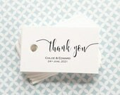 Personalised Wedding Favour Tags - Thank you - FT01