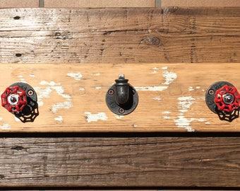 Industrial Vintage style coat rack
