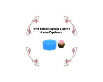 Mold domed top cupcake silicone 23 mm for polymer clay and other.