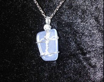 Wire wrapped Opal