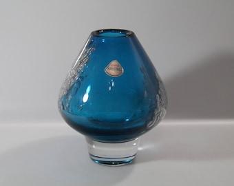 Pretty vase  (large )by Schott in Zwiesel, Mid Century, West Germany, Florida, Heinrich Löffelhardt
