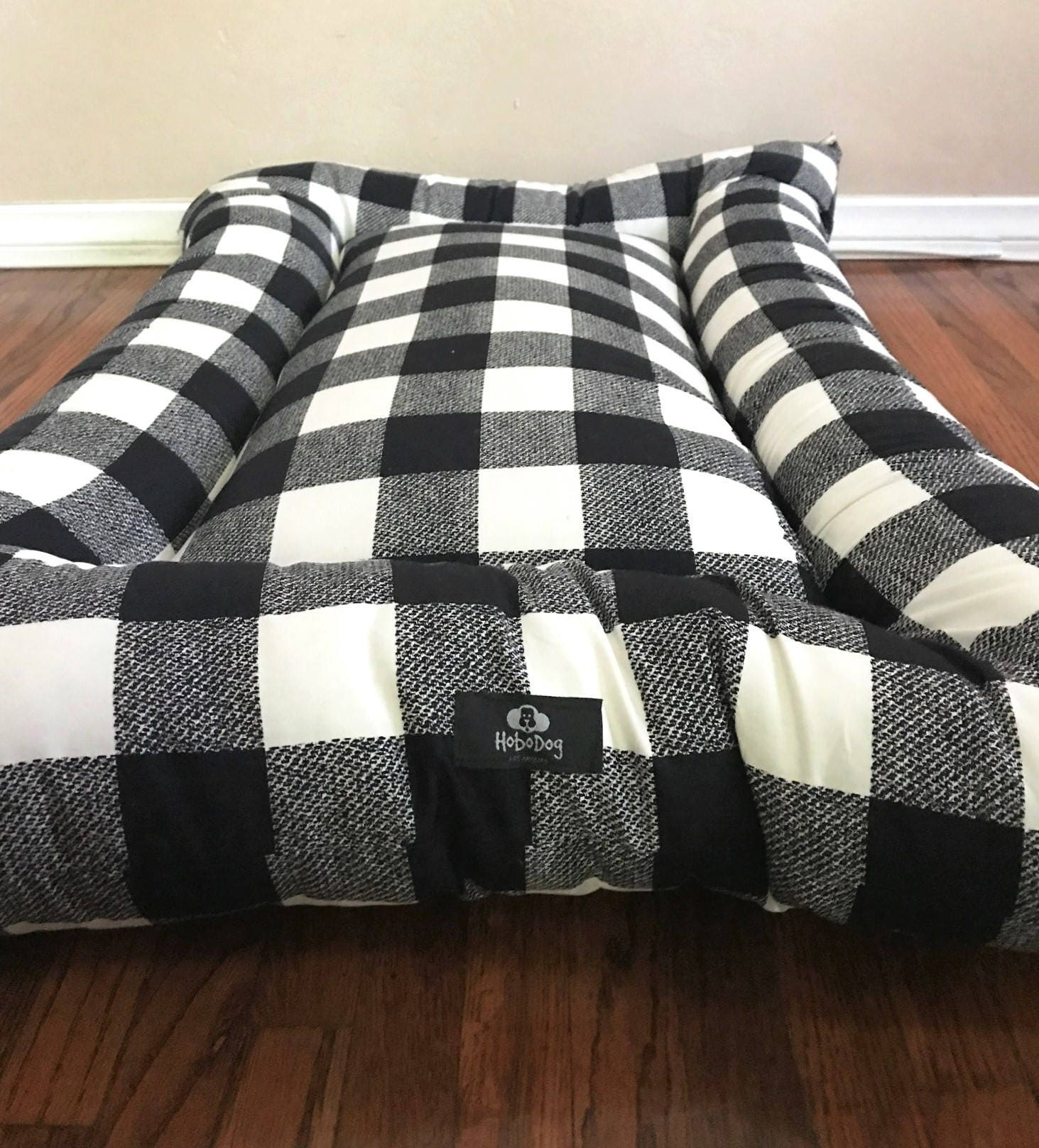 Black And White Checkered Dog Bed Plaid Dog Bed Dog Bedding