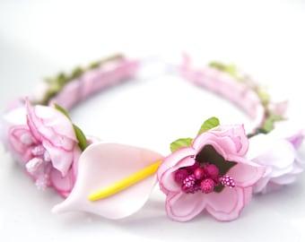 Beautiful shabby chic flower headband