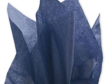 "Navy Blue Tissue Paper - 15"" x 20"" - 96 Sheets"