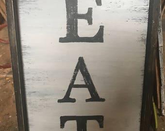 Eat framed sign