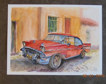 "Atmosphere ""CUBA"" original watercolor on paper"