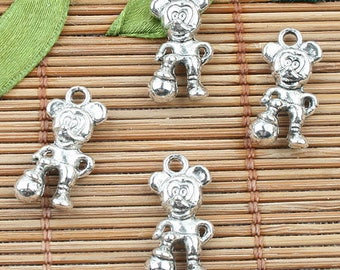 Tibetan Silver color Micky mouse design charms 20pcs EF0004