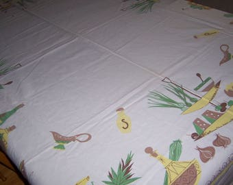 vintage retro kitchen tablecloth