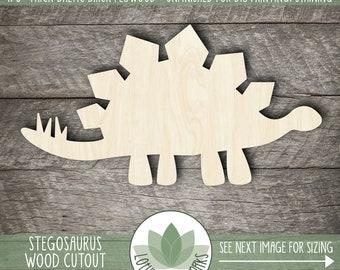 Wood Stegosaurus Shape, Laser Cut Wooden Dinosaur, Dinosaur Nursery Decor, Unfinished Wood For DIY Projects, Dinosaur Party Decor