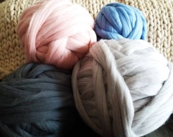 SUMMER SALE SALE 4 Ibs! Chunky Yarn, giant yarn, super chunky yarn,huge yarn, big yarn, chunky wool,chunky merino yarn,big, giant knit yarn,