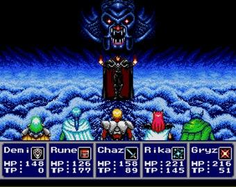Phantasy Star IV Shadowbox - Zio - SEGA - Sega Genesis - 3D Shadow Box Glass Frame - 12x10 - Birthday Gift - RPGs