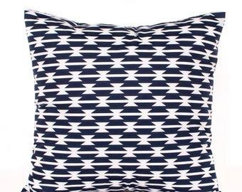 SALE ENDS SOON Navy Throw Pillow Cover, Tomahawk Navy Blue Decorative Pillow, Nursery Pillows, Boys Room Decor, Kids Room Decor