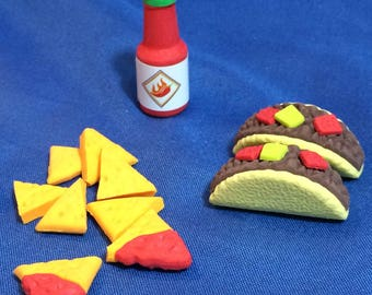 Tacos, Chips and hot sauce for 18 inch doll or American Girl doll