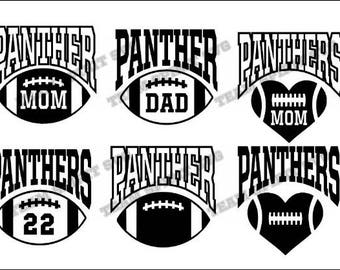 Panthers Big Football with Numbers Download File - SVG, DXF, EPS files, Vinyl Cut Files, Digital Cut Files -Use with Cricut and Silhouette