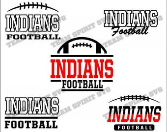 Indians Football Bundle Download Files - SVG, DXF, EPS, Silhouette Studio, Vinyl  Files, Digital Cut Files -Use with Cricut and Silhouette