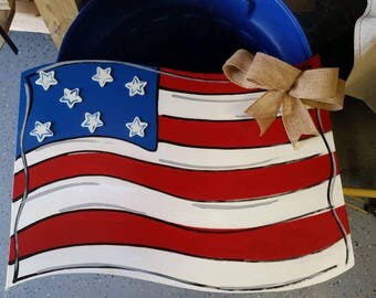 Patriotic flag door hanger