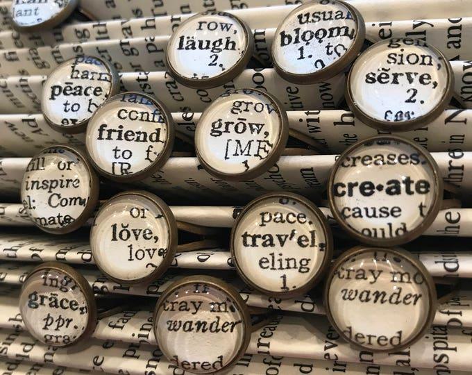 Handmade Dictionary Word Ring