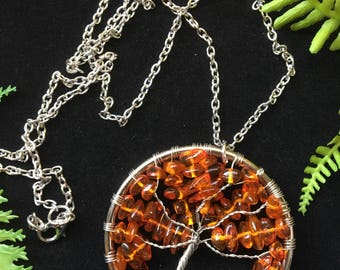 Baltic Amber Tree of Life Necklace