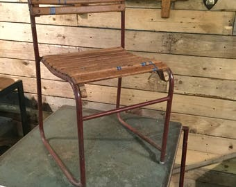 Vintage Metal and wood chair