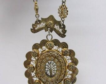 Filipiniana Tambourine Necklace Mariposa Rositas Wow