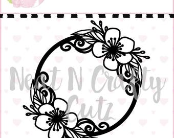 Blossom Frame cut file. For scrapbooking and paper crafting