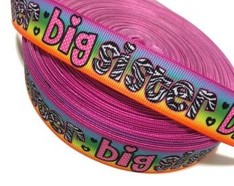 7/8 Big Sister Ribbon, Big Sister Grosgrain Ribbon