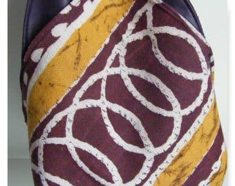 reversible handbag, leatherette
