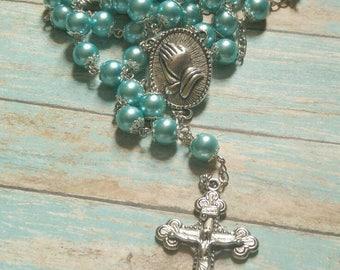 Seabreeze Elegance Pearl Rosary