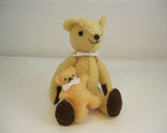 Felt teddy with teddy companion