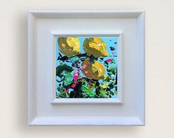 Lemon Art Lemon Oil Painting Lemon Canvas Painting Lemon Kitchen Decor Gift