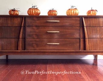 SOLD...SOLD...SOLD                                                              Mid Century Modern 9 Drawer Dresser Credenza Buffet 72L 18D