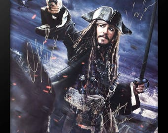 Pirates of the Caribbean Dead Men Tell No Tales - Signed by Cast Movie Poster