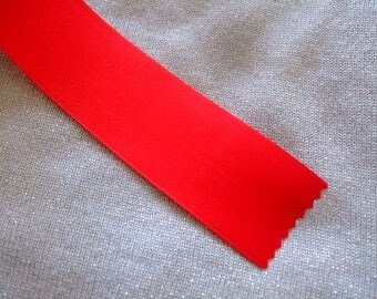 40 mm - Red Ribbon - sold by the yard