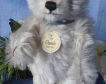 Steiff Teddy Baby, light blue, all ID, 22 cm