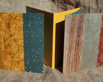 Accordion photo album, book artist Herbarium, etc square - unique and original - multicolored