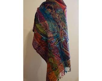 Handmade Woolen Embroidered Shawl