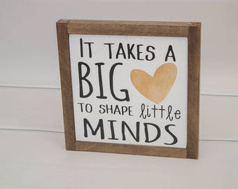 Teacher Appreciation Gift | Wall Hanging | Framed Wood Sign | Teacher Appreciation Week | Teacher Gift | Modern Chic Decor | Rustic Sign